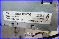 04 05 06 VW Phaeton CD DVD Radio Player NAVIGATION Climate Control Display OEM