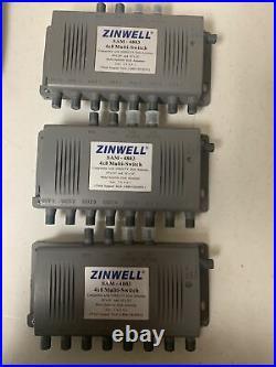 3 Zinwell SAM 4803 4x8 Multi Switch DirecTV Dish Satellite Antenna