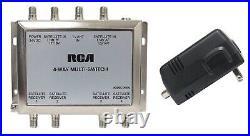 3x4 Rca Multi-switch Lnb + Power Supply Sw34 Fta Satellite Splitter Dss Dbs Dish