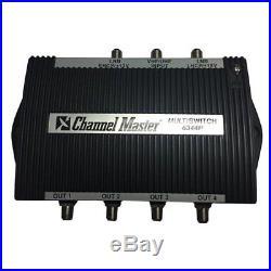 3x4 Satellite Multiswitch Amplifier Compensated Multi-Switch HMS-4APE Outdoor