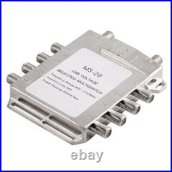 5XPortable 2in 8Out Satellite Signal Multiswitch 950-2150MHz LNB Voltage