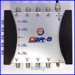 5x8 Satellite multiswitch for 4 satellite IF and 1 terrestrial TV, 8 receivers
