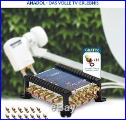 Anadol Gold Line Multischalter 5/8 Für Satellit Multiswitch Für 1 Satelliten