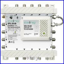 Axing SAT multiswitch Ingressi (Multiswitch) 5 4 satellitare / 1 SPU 58-09