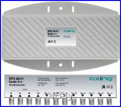 Axing SPU 48-01 4-in-8 Outdoor Satellite MultiSwitch for connection to a Quat