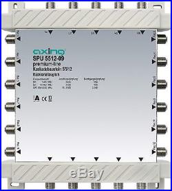 Axing SPU 5512-09 5-in-12 Cascade Unit for Satellite Multiswitch Silver