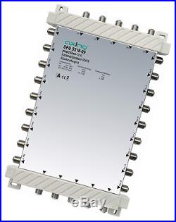 Axing SPU 5518-09 5-in-18 Cascade Unit for Satellite Multiswitch Silver