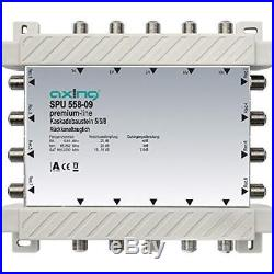 Axing SPU 558-09 5-in-8 Cascade Unit for Satellite Multiswitch Silver
