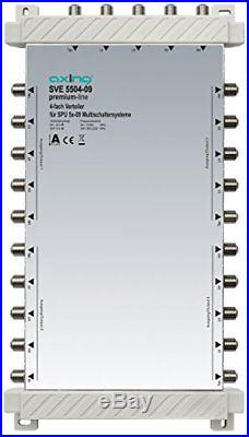 Axing SVE 5504-09 5 In 4 x 5 Out 4-Way Satellite Multiswitch Splitter White