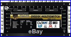 COMMUTATEUR MULTISWITCH 14/12 DISEQC 3 SATELLITES + 1 SAT + 1 TER / 12 TV