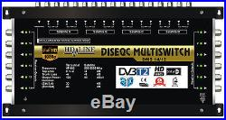 COMMUTATEUR MULTISWITCH 17/12 DISEQC 4 SATELLITES 1 TERRESTRE / 12 DEMOS TV