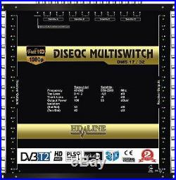 COMMUTATEUR MULTISWITCH 17/32 DISEQC 4 SATELLITES 1 TERRESTRE / 32 TV DEMOS