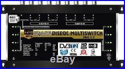 COMMUTATEUR MULTISWITCH 9/8 DISEQC 2 SATELLITES 1 TERRESTRE / 8 DEMOS TV