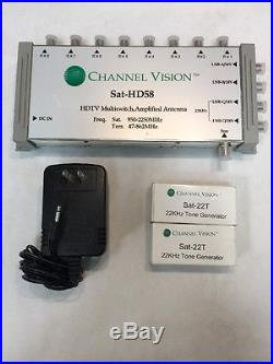 Channel Vision SAT-HD58 5 In 8 Out HDTV Multiswitch Amplified Antenna/Satellite