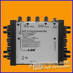 CoaxLAN CL852NT SAT multi switch 2 Satellites up to 8 Powerline Modem