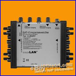 CoaxLAN SAT Multi Switch 2 Satellites up to 8 Powerline Modem Connections