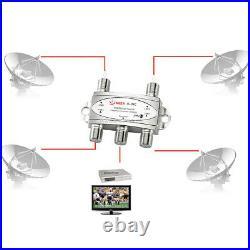 DiSEqC 2.0 Model 4x1W Receiver Multi Dish TV Signal Wideband Satellite Switch