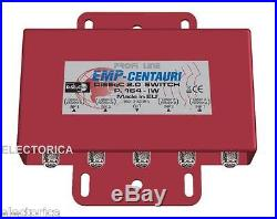 EMP-CENTAURI 4X1 DISEqC MULTI-SWITCH 4X1 SATELLITE FTA LNB FREE TO AIR P. 164 HD