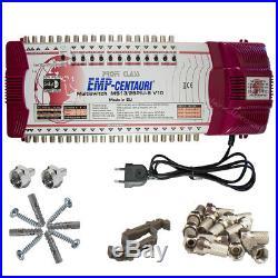 Emp Line Pro 13/26 piu-6 MULTI-SWITCH 3 Satellite pour 26 abonné CENTAURI