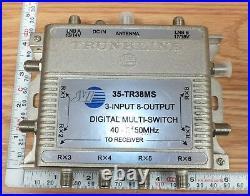 Genuine Trunkline JVI (35-TR38MS) Satellite Digital 8 Way Multi Switch READ