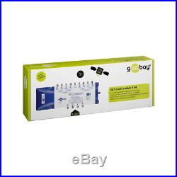 Goobay 67266 Satellite Multiswitch, 9 In / 8 Out