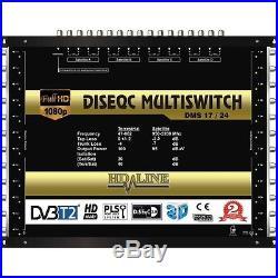 HD-LINE MULTISWITCH 17 / 24 4 SATELLITES 1 TERRESTRE / 24 SORTIES