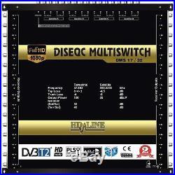 HD-LINE MULTISWITCH 17 / 32 4 SATELLITES 1 TERRESTRE / 32 SORTIES