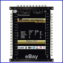 HD-LINE MULTISWITCH 9 / 32 3 SATELLITES 2 SAT sur 32 TV