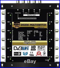 HD-LINE PRO MULTISWITCH 5/12 1 SATELLITE 1 TER / MULTISCHALTER 12 RECEIVERS