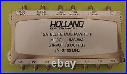 Holland Electronics Satellite Multi Switch Hms-58a 5 In 8 Out