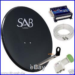 Installation Satellite TOP Qualité 100cm Bol numerique 12 abonné + Multi-switch