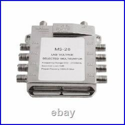 Jasen JS-MS28 2 in 8 Diseqc Switch Satellite Multiswitch Satellite Antenna Flat