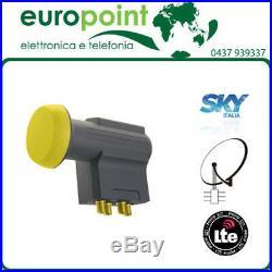LNB convertitore 4polarizzazioni VH VH multiswitch parabola satellite SKY ITALIA