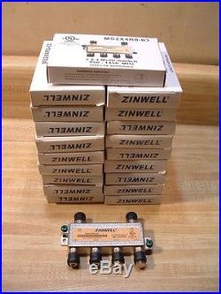 LOT OF 19 ZINWELL 2x4 SATELLITE Multi Switch 4 OUTPUTS MS2X4R0-03 Free Ship