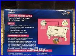 Leviton 47691-3ms 3x4 Satellite Multi-Switch NIB