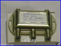 Lot 2 FTA Switch 2x1 DiSEqC LNB Satellite Multi Dish LNBF Receiver Multiswitch