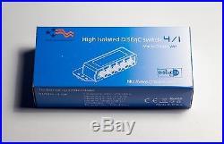 Lot of 10 DiSEqC 4x1 Switch Weatherproof Cover FTA Satellite Dish Multi-Switch