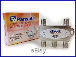 Lot of 5 Pansat Wideband 4x1 DiSEqC 1.0 Premium Satellite Switch FTA Multi-LNBF
