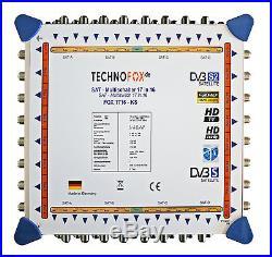 MULTI-SWITCH 17/16 Cascade 4 Satellite 16 abonnés MADE IN GERMANY 4 K 3D HDTV