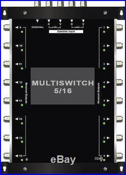 MULTISWITCH 5/16 DISEQC 1 SATELLITE 1 TERRESTRISCHE MULTISCHALTER 16 RECEIVERS