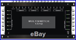 MULTISWITCH CENTRALE 17/12 DISEQC 4 SATELLITES 1 TERRESTRE / 12 DECODEURS
