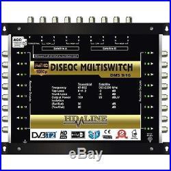 MULTISWITCH CENTRALE DISEQC 10/16 1 TERRESTRE 3 SATELLITES SUR 16 DEMODULATEURS