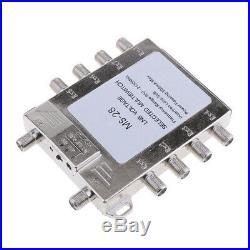 Multi Switch LNB Satellite FTA 8 Output Combiner LNBF Dish JS-MS28 Silver