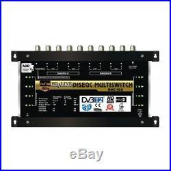 Multischalter 9/8 2 SATELLITE / 8 Teilnehmer HDTV UHD 4K SAT Multiswitch LNB 16V