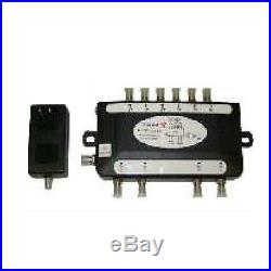 Multiswitch 6 IF input to 4 outputs for Satellite Receiver with AC-DC Adapter