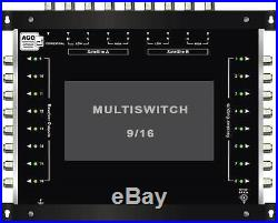 Multiswitch HDTV 10/16 Centrale 3 satellites 1 terrestre / 16 démos Diseqc