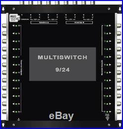 Multiswitch HDTV 10/24 Centrale 3 satellites 1 terrestre / 24 démos Diseqc