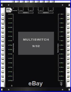 Multiswitch HDTV 10/32 Centrale 3 satellites 1 terrestre / 32 démos Diseqc