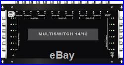 Multiswitch HDTV 14/12 Centrale 3 satellites 1 ter +1sat pour 12 démos Diseqc