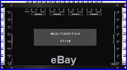 Multiswitch HDTV 17/16 Centrale 4 satellites 1 terrestre pour 16 démodulateurs